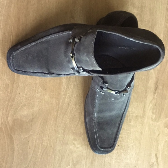 Men's leather suede shoes.